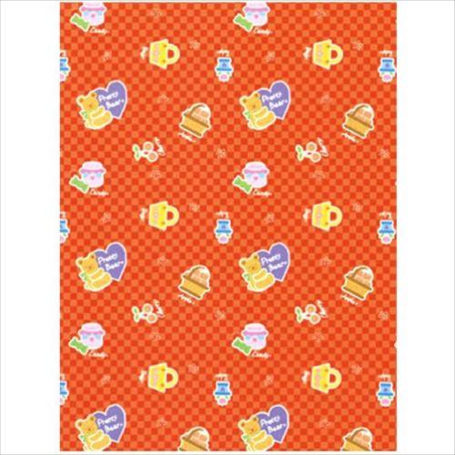 ササガワ タカ印 49-2312 包装紙 プリティベア赤 全判 50枚  【abt-1181725】【APIs】