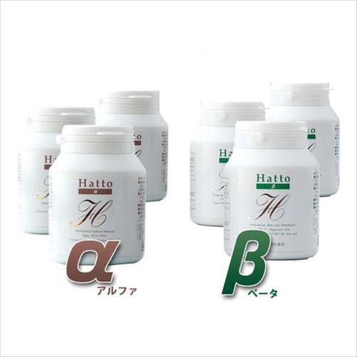 Hatto-α&Hatto-β 90g(300mg×300粒) 各3本セット  【abt-1067248】【APIs】 (軽税)