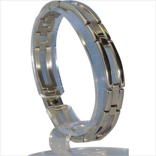 MARE(マーレ) ゲルマニウム4個付ブレスレット PT/IP ミラー 113G S (18.5cm) H1126-05S  【abt-1143157】【APIs】