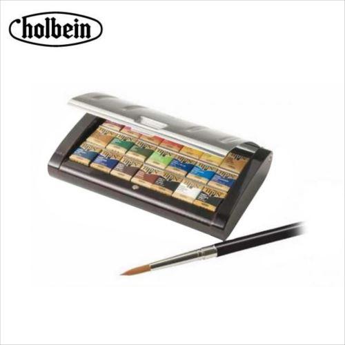 ホルベイン 固形水彩絵具 パンカラー PN695 21色セット(越前漆塗り製) 2695  【abt-1240105】【APIs】