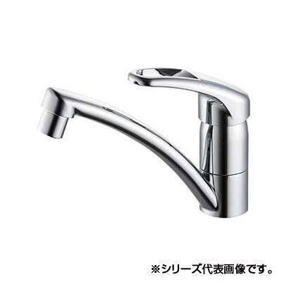 三栄 SANEI Modello シングルワンホール混合栓 K87610JV-S-13  【abt-1358057】【APIs】
