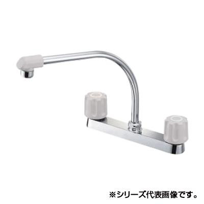 三栄 SANEI U-MIX ツーバルブ台付混合栓 K61D-LH-13  【abt-1358064】【APIs】