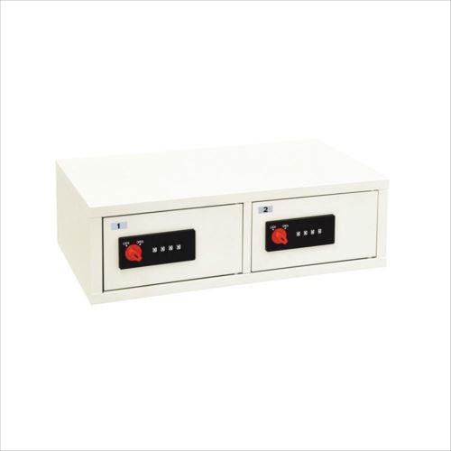 LK LOCKER 一時保管庫 リゼロ・ロック式 2列1段 ホワイト LK-502  【abt-1388906】【APIs】