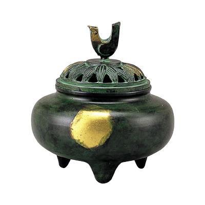 高岡銅器 銅製香炉 珠玉型香炉 134-05  【abt-1422020】【APIs】