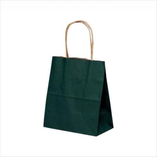 T-1 自動紐手提袋 紙袋 紙丸紐タイプ 180×100×210mm 200枚 カラー(緑) 1115  【abt-1423508】【APIs】