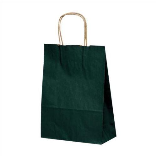 T-3 自動紐手提袋 紙袋 紙丸紐タイプ 220×100×300mm 200枚 カラー(緑) 1315  【abt-1423540】【APIs】
