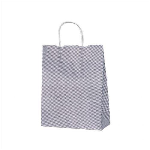 T-X 自動紐手提袋 紙袋 紙丸紐タイプ 260×110×330mm 200枚 鹿の子(紫) 1598  【abt-1423559】【APIs】