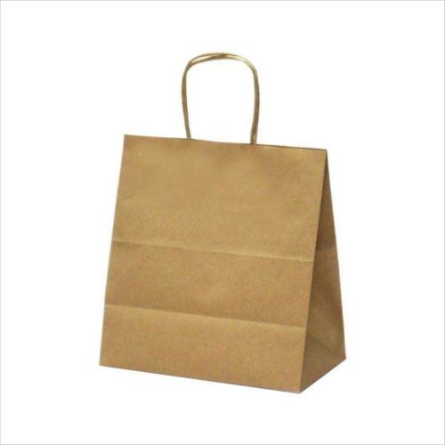 T-5W 自動紐手提袋 紙袋 紙丸紐タイプ 260×150×280mm 200枚 茶無地 1628  【abt-1423566】【APIs】