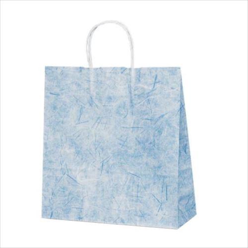 T-6 自動紐手提袋 紙袋 紙丸紐タイプ 320×110×330mm 200枚 彩流(紺) 1643  【abt-1423587】【APIs】