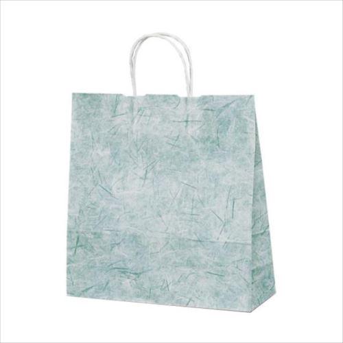 T-6 自動紐手提袋 紙袋 紙丸紐タイプ 320×110×330mm 200枚 彩流(緑) 1644  【abt-1423588】【APIs】