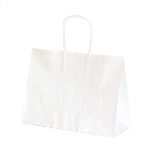 T-6S 自動紐手提袋 紙袋 紙丸紐タイプ 310×125×230mm 200枚 白無地 1340  【abt-1423603】【APIs】