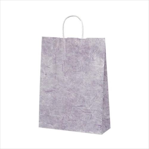 T-8 自動紐手提袋 紙袋 紙丸紐タイプ 320×110×430mm 200枚 彩流(紫) 1824  【abt-1423624】【APIs】