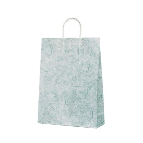 T-8 自動紐手提袋 紙袋 紙丸紐タイプ 320×110×430mm 200枚 彩流(緑) 1826  【abt-1423626】【APIs】