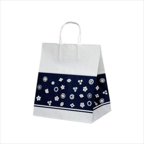 T-ワイド 自動紐手提袋 紙袋 紙丸紐タイプ 300×210×350mm 200枚 室町 1750  【abt-1423635】【APIs】