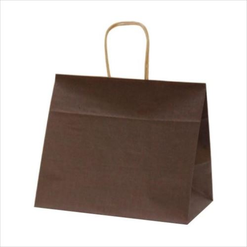T-9W 自動紐手提袋 紙袋 紙丸紐タイプ 320×200×280mm 200枚 カラー(カカオ) 1093  【abt-1423639】【APIs】