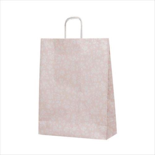 T-12 自動紐手提袋 紙袋 紙丸紐タイプ 380×145×500mm 200枚 カレン(ピンク) 1441  【abt-1423653】【APIs】