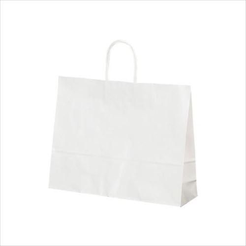 T-Y 自動紐手提袋 紙袋 紙丸紐タイプ 415×110×320mm 200枚 白無地 1532  【abt-1423662】【APIs】
