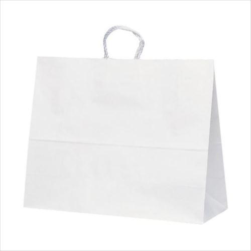 T-17 自動紐手提袋 紙袋 紙丸紐タイプ 600×220×480mm 100枚 白無地 1748  【abt-1423670】【APIs】