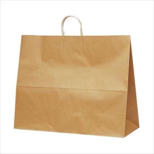 T-17 自動紐手提袋 紙袋 紙丸紐タイプ 600×220×480mm 100枚 茶無地 1746  【abt-1423671】【APIs】
