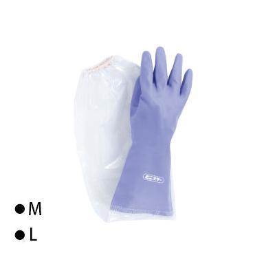 東和コーポレーション(TOWA) 腕カバー付手袋 ビニスター腕カバー付 500ソフト バイオレット 10双 505  【abt-1437805】【APIs】