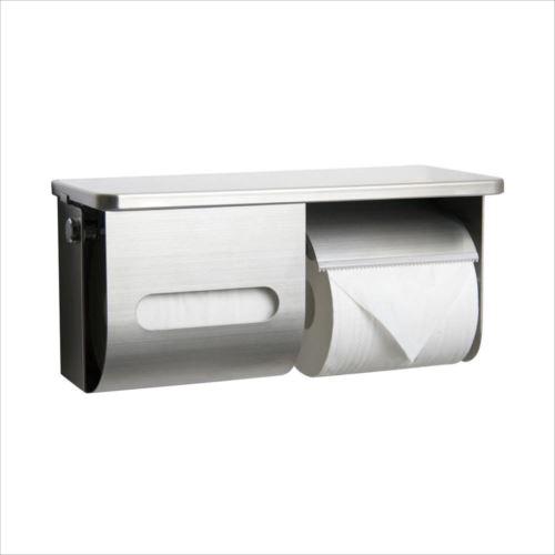 ペーパー盗難防止鍵付棚付横2連ワンハンドペーパーホルダー R3835R-K  【abt-1439675】【APIs】