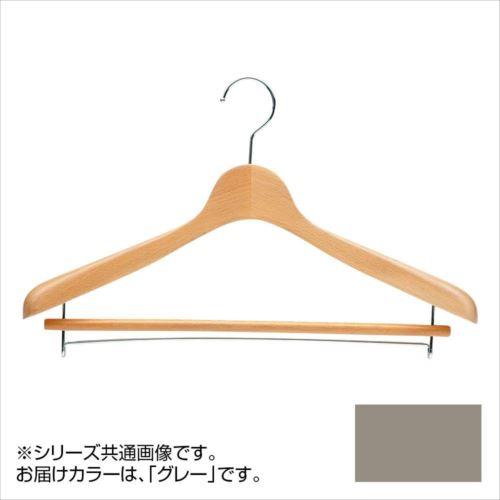 日本製 木製ハンガーメンズ用 T-4121 グレー 5本セット バー付 肩幅42cm×肩厚4cm  【abt-1453489】【APIs】