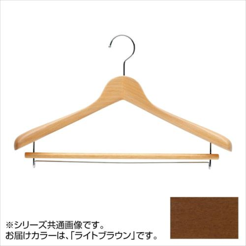 日本製 木製ハンガーメンズ用 ライトブラウン 5本セット T-5281 バー付 肩幅42cm×肩厚5.5cm  【abt-1453580】【APIs】