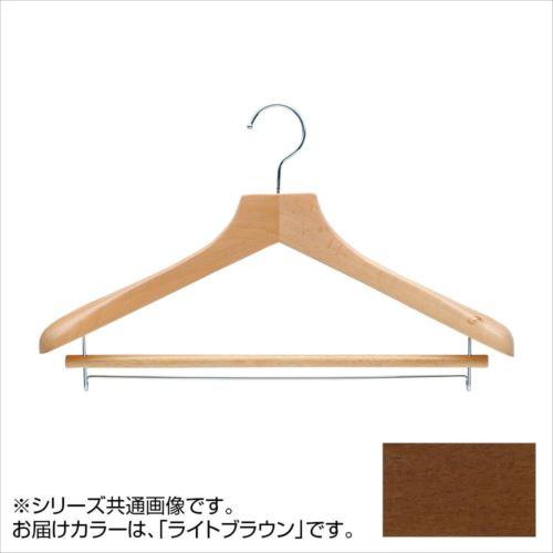 日本製 木製ハンガーメンズ用 ライトブラウン 5本セット T-5251 バー付 肩幅42cm×肩厚4.5cm  【abt-1453586】【APIs】