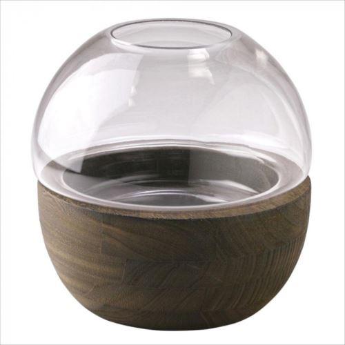 木のぬくもりを感じるガラスベース SPICE BOLD フラワーベース 超人気 abt-1484982 ドーム 店 APIs DGGZ1040