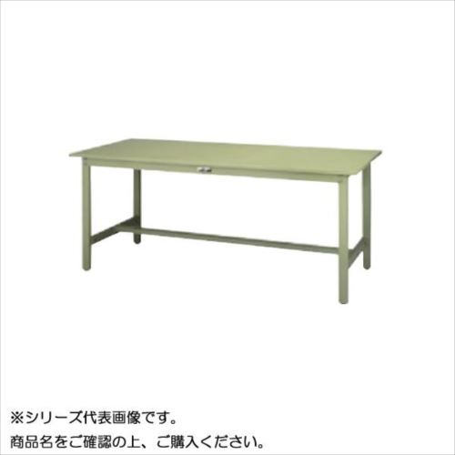 SWS-1890-GG+S2-G ワークテーブル 300シリーズ 固定(H740mm)(2段(浅型W394mm)キャビネット付き)  【abt-1497337】【APIs】