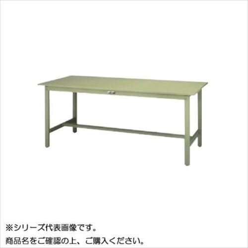 SWSH-1875-GG+S2-G ワークテーブル 300シリーズ 固定(H900mm)(2段(浅型W394mm)キャビネット付き)  【abt-1497430】【APIs】
