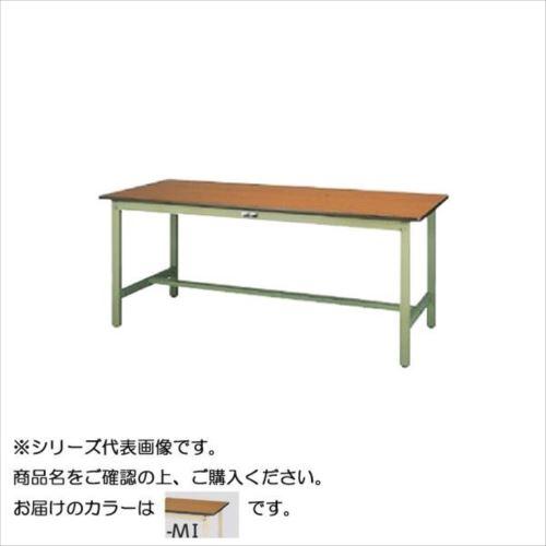 SWP-1875-MI+D1-IV ワークテーブル 300シリーズ 固定(H740mm)(1段(深型W500mm)キャビネット付き)  【abt-1498162】【APIs】