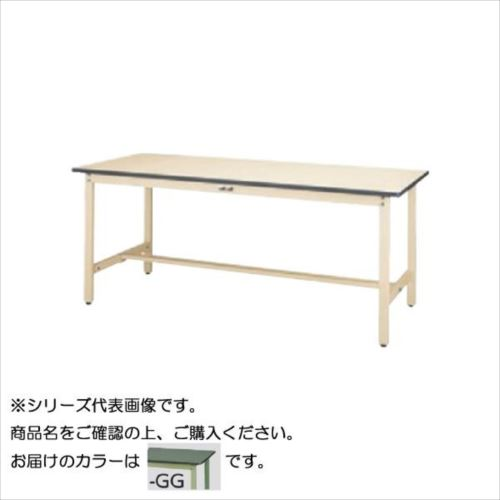 SWR-1260-GG+D1-G ワークテーブル 300シリーズ 固定(H740mm)(1段(深型W500mm)キャビネット付き)  【abt-1498179】【APIs】