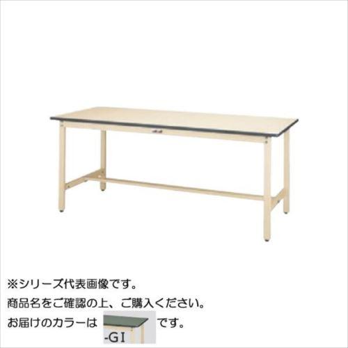 SWR-1875-GI+D1-IV ワークテーブル 300シリーズ 固定(H740mm)(1段(深型W500mm)キャビネット付き)  【abt-1498195】【APIs】