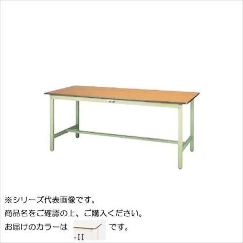 SWP-1260-II+D2-IV ワークテーブル 300シリーズ 固定(H740mm)(2段(深型W500mm)キャビネット付き)  【abt-1498329】【APIs】