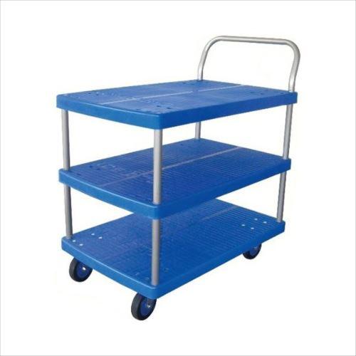 プラスチックテーブル台車 テーブル3段式 最大積載量150kg PLA150Y-T3  【abt-1500689】【APIs】