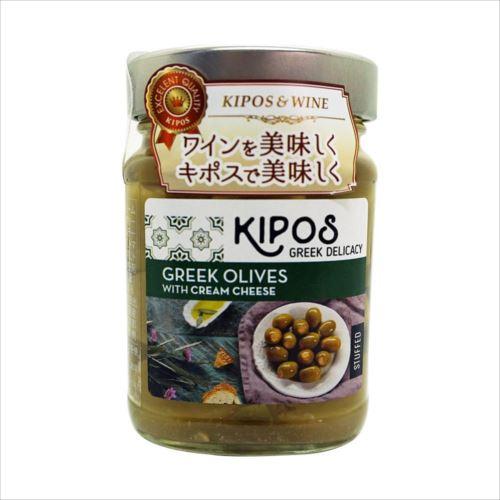 キポス グリーンオリーブ クリームチーズ入り 230g×6個  【abt-1395480】【APIs】 (軽税)