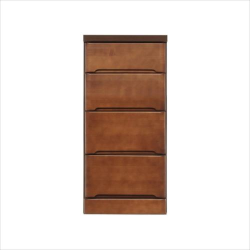 クライン サイズが豊富なすきま収納チェスト ブラウン色 4段 幅37.5cm  【abt-1076633】【APIs】