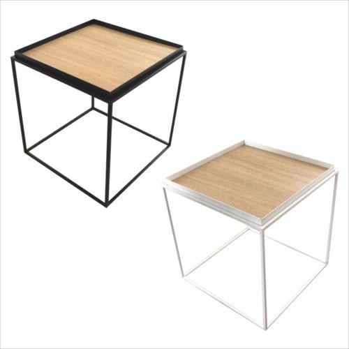 トレイテーブル サイドテーブル 400×400mm ナラ突板  【abt-1106252】【APIs】