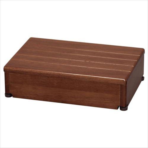 木製玄関台 1段型 ブラウン 45W-30-1段  【abt-1245376】【APIs】