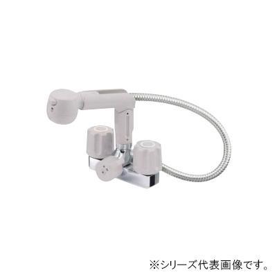 三栄 SANEI U-MIX ツーバルブスプレー混合栓(洗髪用) 寒冷地用 K3104K-LH-13  【abt-1358156】【APIs】