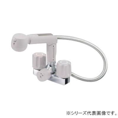 三栄 SANEI U-MIX ツーバルブスプレー混合栓(洗髪用) K3104V-LH-13  【abt-1358157】【APIs】