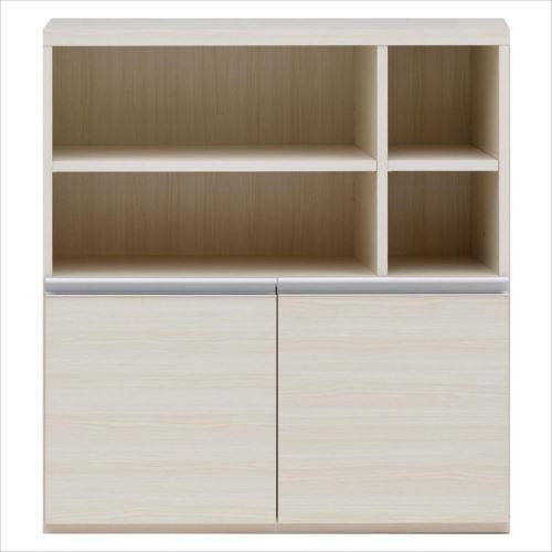 収納棚 オープン棚 + 戸棚 ホワイトウッド ECS-91H  【abt-1361259】【APIs】