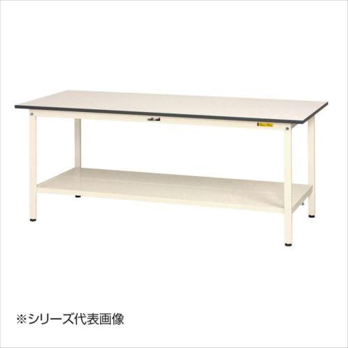 山金工業(YamaTec) SUP-660TT-WW ワークテーブル150シリーズ 固定式(H740mm) 600×600mm (全面棚板付)  【abt-1413232】【APIs】