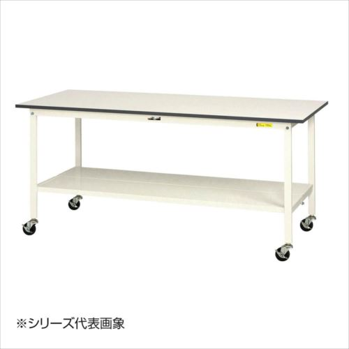 山金工業(YamaTec) SUPC-1560TT-WW ワークテーブル150シリーズ 移動式(H826mm) 1500×600mm (全面棚板付)  【abt-1413306】【APIs】