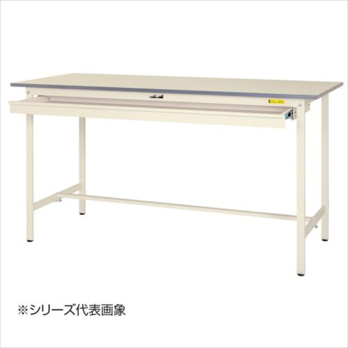 山金工業(YamaTec) SUPH-1875W-WW ワークテーブル150シリーズ 固定式 ワイド引き出し付(H950mm) 1800×750mm  【abt-1413534】【APIs】