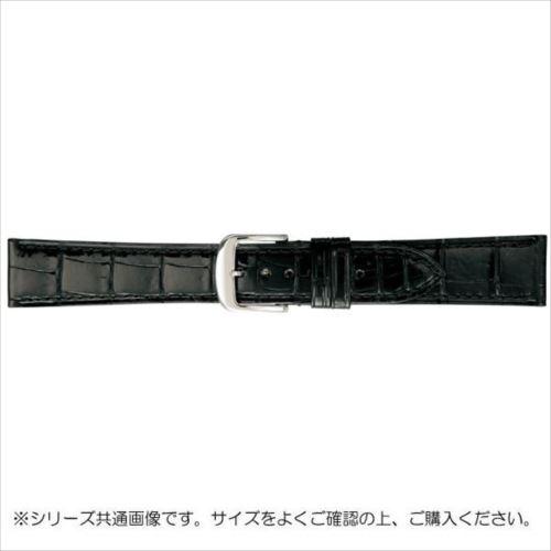 BAMBI バンビ 時計バンド グレーシャス ワニ革 黒(美錠:白) BWA005AP  【abt-1486471】【APIs】