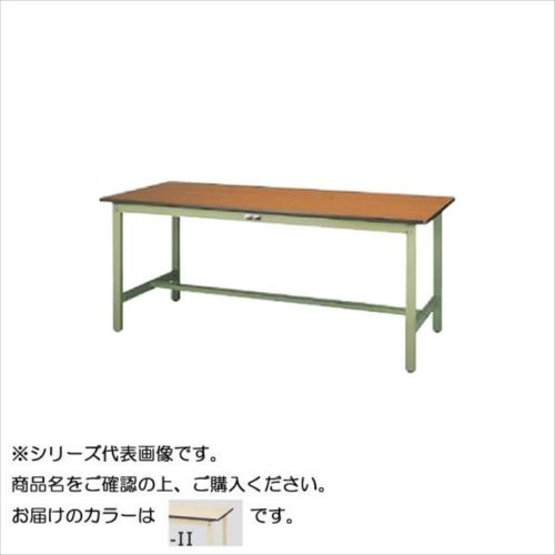 SWP-1275-II+D1-IV ワークテーブル 300シリーズ 固定(H740mm)(1段(深型W500mm)キャビネット付き)  【abt-1498156】【APIs】