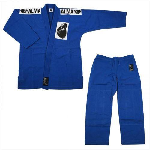 ALMA アルマ レギュラーキモノ 国産柔術衣 A5 青 上下 JU1-A5-BU  【abt-1223556】【APIs】