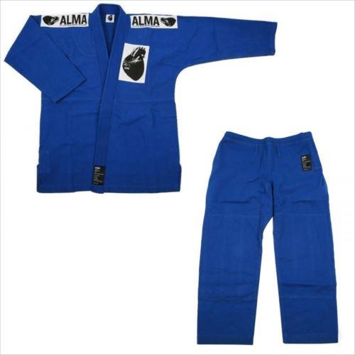 ALMA アルマ レギュラーキモノ 国産柔術衣 A1 青 上下 JU1-A1-BU  【abt-1223533】【APIs】